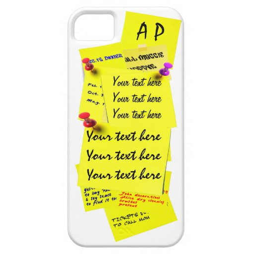 Yellow fridge note sticker template iphone 5 case zazzle for Iphone 5 sticker template