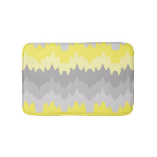 Grey And Yellow Bath Mats Zazzle