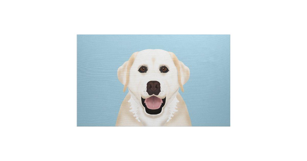 Yellow Labrador Retriever Cartoon Fabric Zazzle