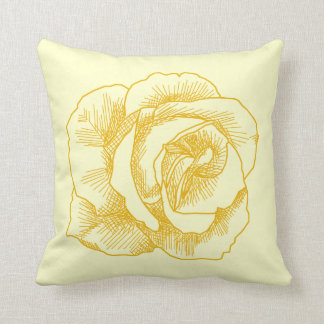 Rose Line Drawing Pillows, Rose Line Drawing Throw Pillows