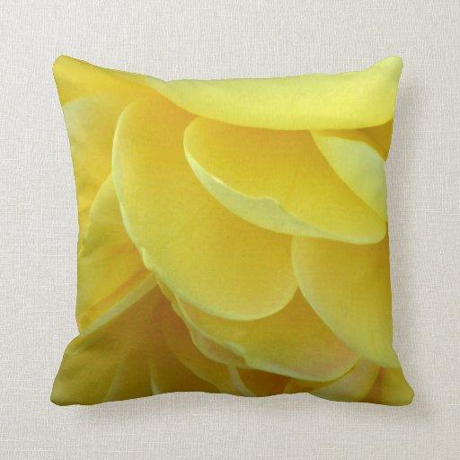 Yellow Rose Petals Throw Pillow Zazzle