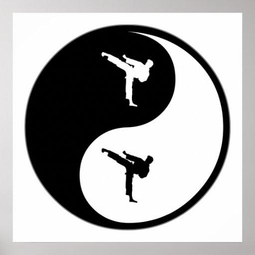 Yin Yang Martial Arts Poster Zazzle