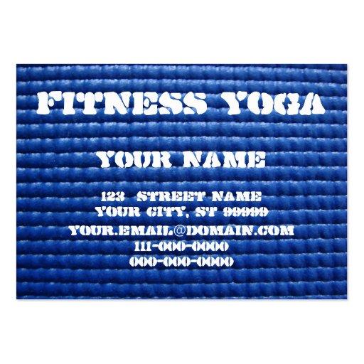 Yoga Mat Large Business Card Zazzle
