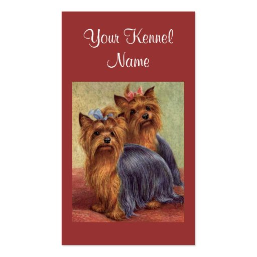 Yorkshire Terrier Business Card Templates