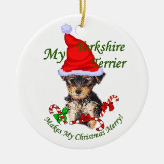 Yorkie Ornaments & Keepsake Ornaments | Zazzle