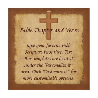 Your Bible Verse Wall Art, Christian Wood Art Wood Canvases