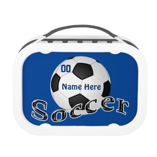 Your COLORS and TEXT Soccer Lunch Box Kids Yubo Lunchbox