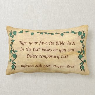 YOUR Favorite Christian Bible Verse Pillows