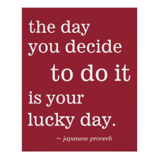Lucky day quotes gifts on zazzle - Lucky color of the day ...
