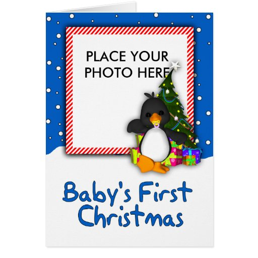 Your Photo Here, Baby's First Christmas Card