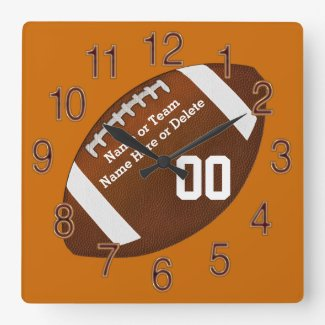 Your Team COLORS, NAME, NUMBER Football Clocks