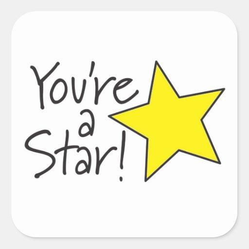 You're a Star sticker | Zazzle