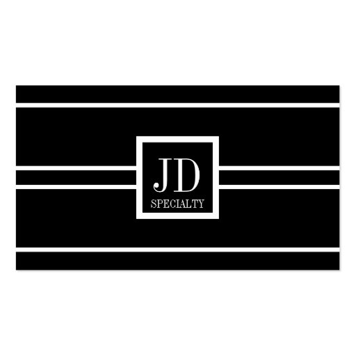 Yourspecialty Black White Striped Pendant Business Card Templates