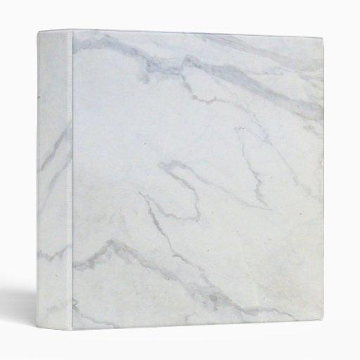 ZAZZLELIST Marble Marvellous White Binder