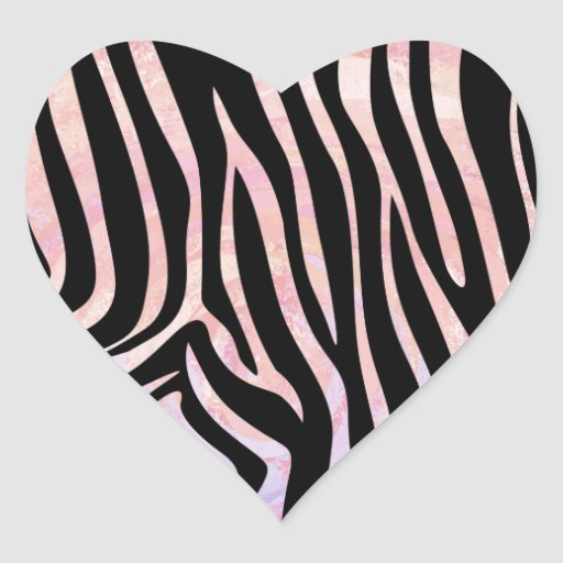 Pink And Black Zebra Print Hearts