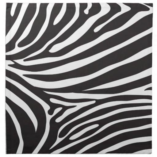 Aninimal Book: Zebra pattern, modern zebra print black and white napkin ...