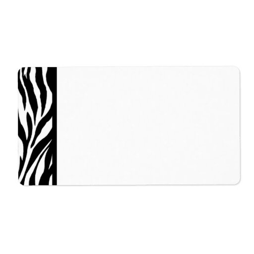 Zebra Print Black And White Shipping Label