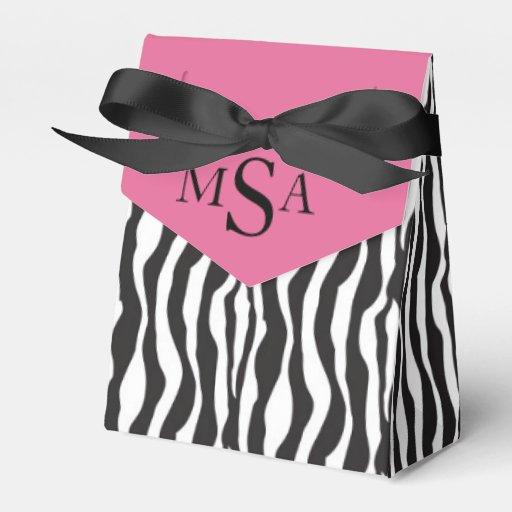 Zebra Print & Carriage Baby Shower Gift Box