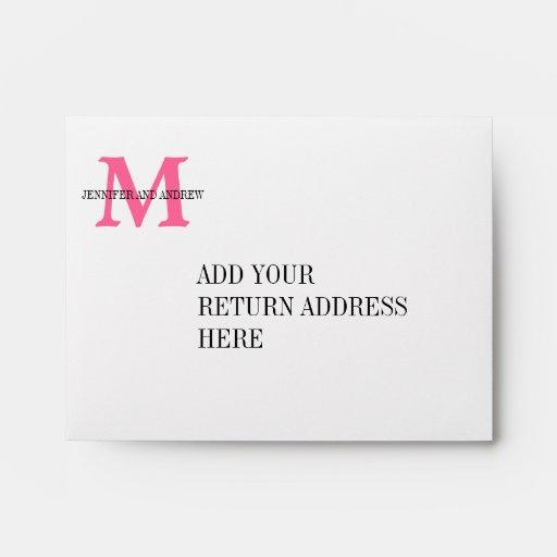 Printing Wedding Invitation Envelopes At Home: Zebra Print Monogram Wedding Invitation Envelopes