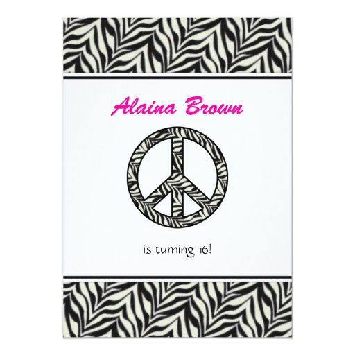 Zebra Peace Sign Coloring Pages Zebra Print Pea...