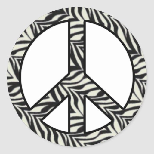 Zebra Peace Sign Coloring Pages Zebra Print Pic...