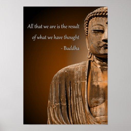 Coca Cola Gifts >> Zen Buddha Quote Inspirational Spiritual Poster   Zazzle