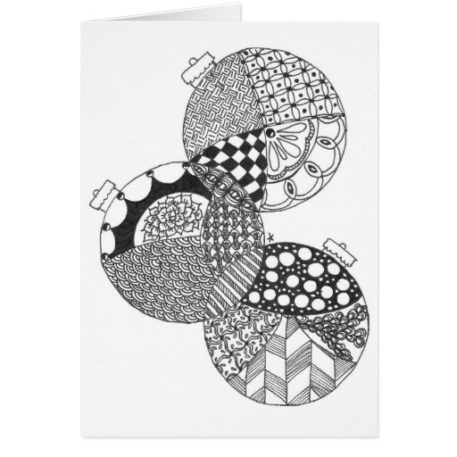 Zentangle Decorations 1 Greeting Cards