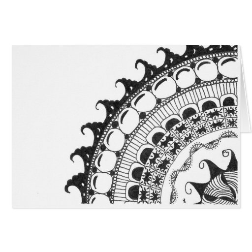 Mandala - Waves Greeting Card
