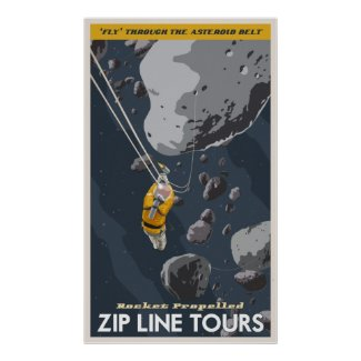 Zip Line Tours through the asteroid belt Print