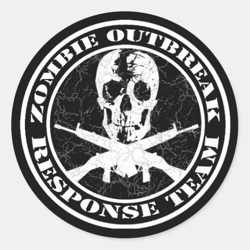 Zombie Outbreak Response Team Sticker | Zazzle