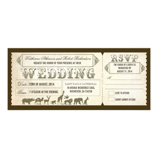 Wedding Invitations Tucson: Ticket Invitations, 1300+ Ticket Announcements & Invites