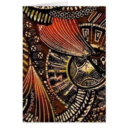 Zulu Art Greeting Card