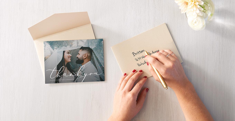Wedding Thank You Card Etiquette.Wedding Thank You Card Wording Tips Etiquette Zazzle Ideas