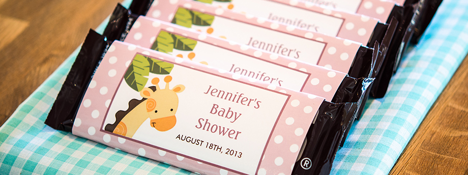 Steps to Make Candy Bar Wrappers for a Baby Shower Celebration