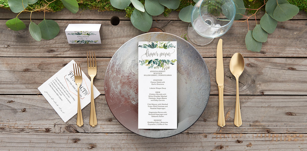 Day before and day of stationery for your wedding decoration
