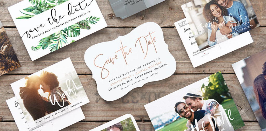 Wedding save the date invitations - edit a pre-existing save the date template or design your own!