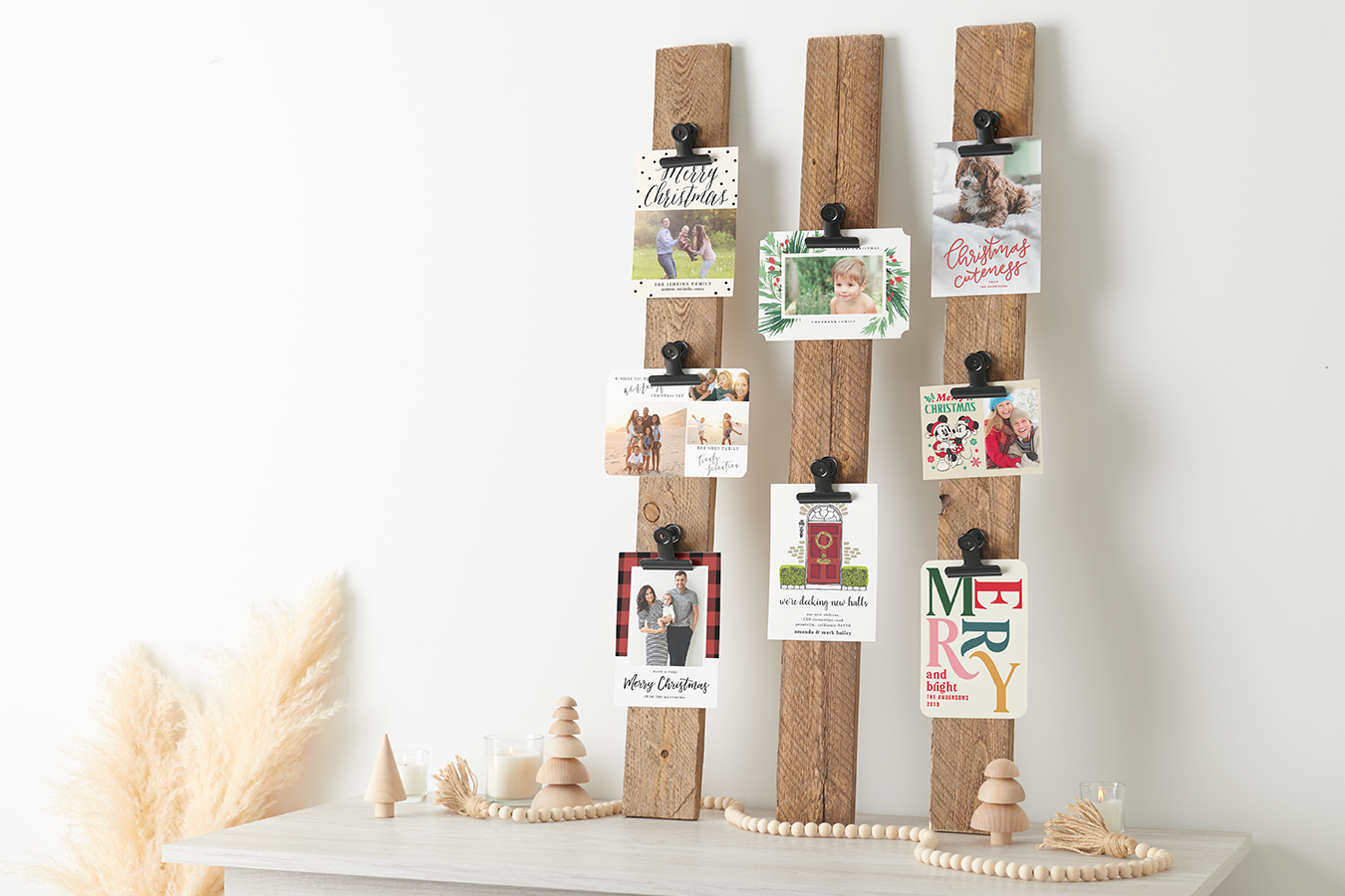 Diy Festive Christmas Card Holder Zazzle Ideas